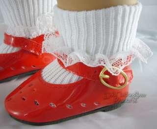 Doll Clothes Red Patent Shoes fits American Girl Molly!
