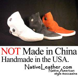 NEW WOMENS Red,Black or White NAVAJO 2 BUTTON MOCCASINS
