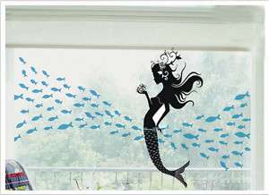 Mermaid&100 Fish Nature Vinyl Wall Decal Art Sticker 32