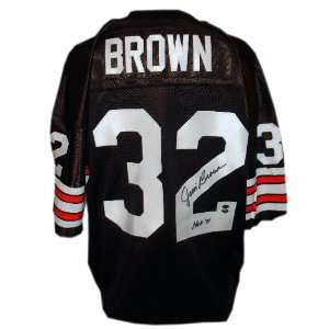 Jim Brown Autographed Custom Jersey with HOF 71 Inscription