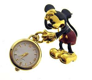 MICKEY & CO. QUARTZ LADIES MICKEY MOUSE WATCH PIN BY NAPIER