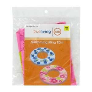 trueliving Inflatable Swim Ring   20   Assorted Styles