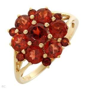 CleverSilvers 2.25.Ctw Garnet Gold Ring   Size 7.5