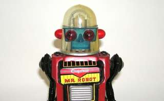 Vintage Cragstan Mr. Robot Tin Battery Operated Robot Toy Japan 1960s