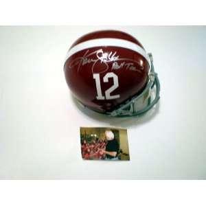 Ken Stabler Autographed/Hand Signed Alabama Helmet Roll
