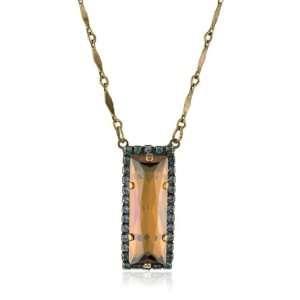 Sorrelli Tropical Shimmering Crystal Baguette Gold Tone