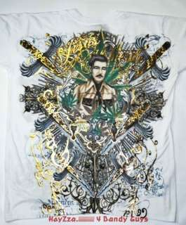 New Mens Jesus Malverde Designer T Shirt With Rhineston