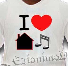 Love House Music Tee Shirt Dance Club gift garage tee