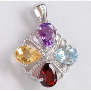 Multe Gemstone in Sterling Silver Pendant