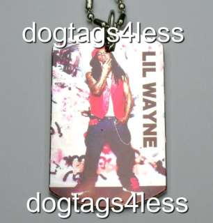 LIL WAYNE Dog Tag HIP HOP DogTag Necklace FREE Chain 4