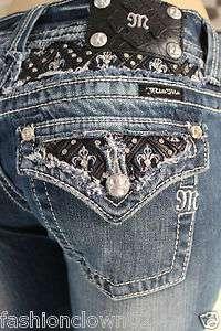 Miss Me Womens Jeans NWT JP6076T Straight Leg ,
