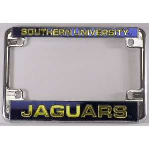 Jaguars Chrome Motorcycle RV License Frame
