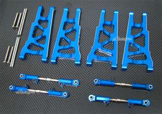 Aluminum Alloy Front Rear Lower Arm + Adjustable Upper Arm for Traxxas