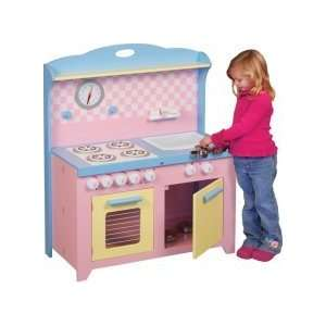 Guidecraft Kids Hideaway Play Kitchen Pink Toys & Games