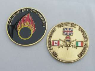 Ammunition Technical Officer Course Ammo ASA Military Challenge Coin