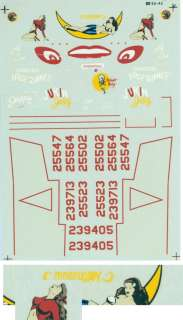 Microscale Decal 48 42 for 1/48 P 61 Black Widows with Nose Art Decal