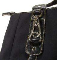 Franco Sarto Black Nylon Purse / Shoulder Bag LAST CHANCE SALE