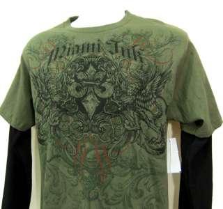 Mens Miami Ink Shirt Fleur De Lis Double Griffons M