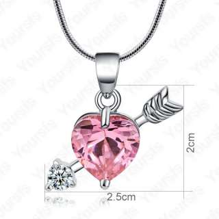 18K White gold Plated Use Swarovski Crystal Gorgeous Amoroso Pendant
