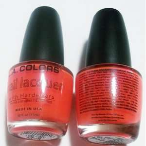 LA. Colors Nail Polish Lacquer Hot Pink (2) 0.44 FL. OZ. Beauty