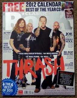 CLASSIC ROCK + CD THRASH January 2012 METALLICA 2012 Calendar BEST