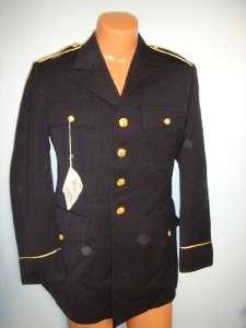 ARMY MANS WINTER DRESS BLUES COAT MDW 36R WOOL
