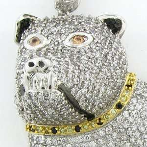 Mens Iced Out Hip Hop White Gold Plated Cubic Zircoina(CZ