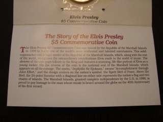 1993 ELVIS PRESLEY MARSHALL ISLANDS 5 DOLLAR COMM. COIN