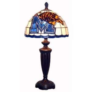 Memphis Tigers Tiffany Style Stained Glass Table/Desk Lamp Sports