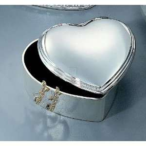 HEART JEWELRY BOX, SILVERPLATED.