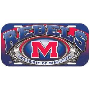 NCAA Ole Miss Rebels High Definition License Plate *SALE*