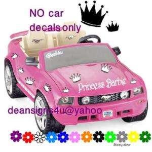 barbie princess jeep battery window toy car decal kit