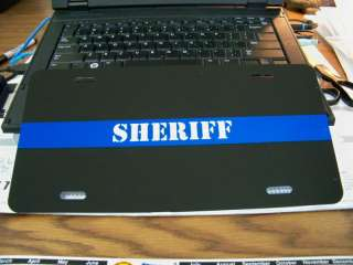 Thin Blue Line Plate / Tag SHERIFF  WITH 2 FREE DECALS