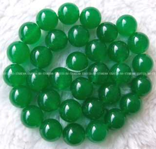 New 14mm Green Jade Round Gemstone Beads 14.5
