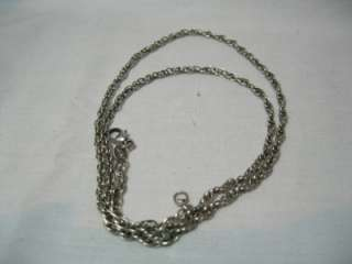 JAMES AVERY STERLING SILVER ROPE CHAIN NECKLACE 18