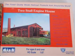 of 2 Building Kits Two Stall Engine House/Lumber Yard & Office