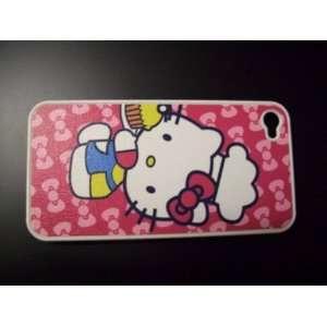 Iphone 4 Hello Kitty mesh Hard Case Cover (Att & Verizon