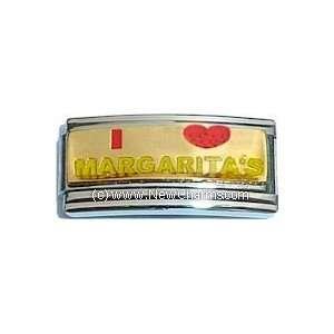 I Love Margaritas Italian Charm Bracelet Jewelry Link
