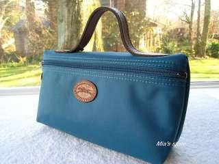 AUTH Longchamp Purse Le Pliage Zip Pouchette Bag Cosmetic Case NEW