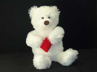 Plush Light Up Talking Hug Me White Hallmark Teddy Bear