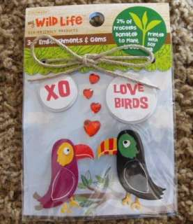 Colorbok Wild Life Love Birds Dimentional Stickers & Gems   T59S