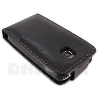 For LG Optimus One P500 , Leather Case Pouch Cover Film  hBlack