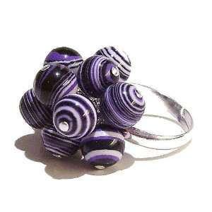 The Black Cat Jewellery Store Purple & White Synthetic