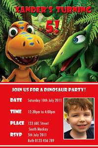 Personalised Dinosaur Train Birthday Invitation Printed