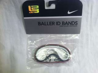 NEW Nike LeBron James Baller Bands Bracelets RED WHITE BLACK