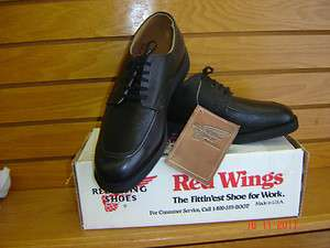 mens new Red Wing black leather lace work oxford oil resistant sole
