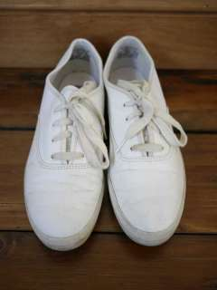 KEDS White LEATHER Hipster Boat Shoes Flats SNEAKERS 8.5 39