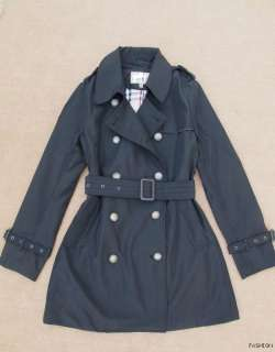 Womens Double breasted Trench Coat/ long Jacke​t