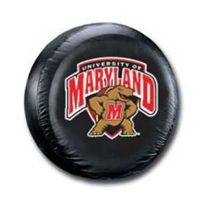 Maryland Terrapins Black Spare Tire Cover Sports