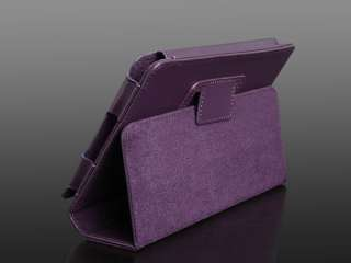 For  Kindle Fire Tablet Ebook 8GB WIFI Purple Leather PU 7in